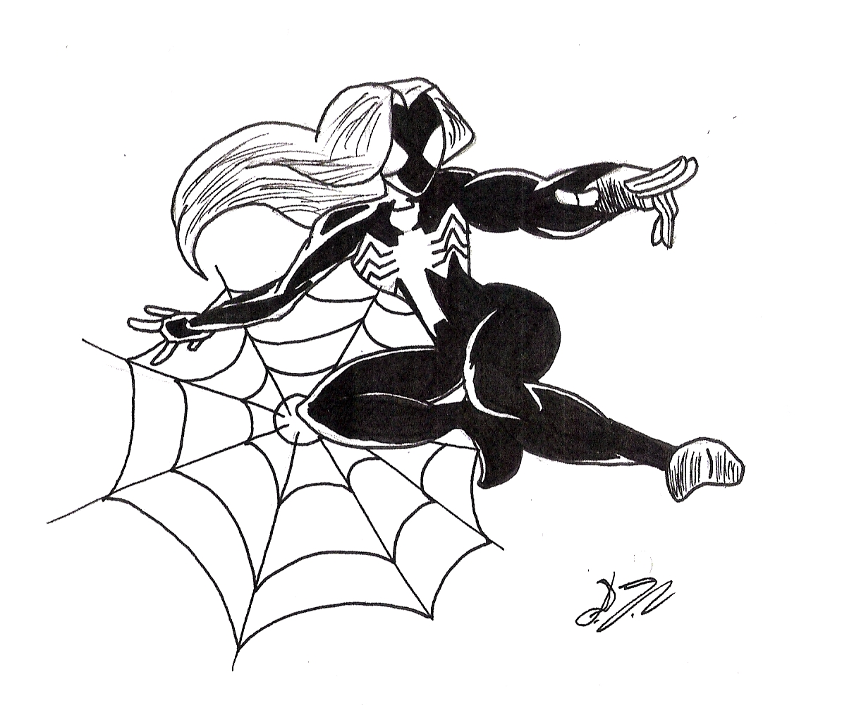 spider girl coloring pages - photo#23