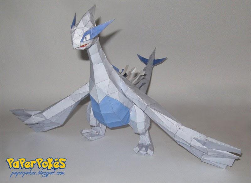 paperpok233s pok233mon papercraft lugia