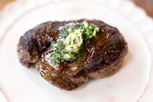 Filet Mignon with Chive Butter Sauce