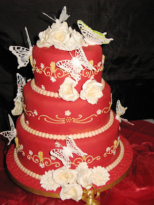 happy birthday cake 16. Three-Tier Birthday Cake:Roses