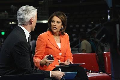Gloria Borger & Anderson Cooper CNN Denver DNC Convention August 23, 2008
