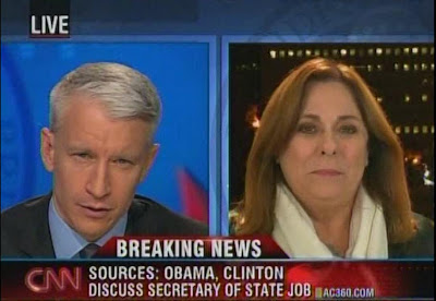 Anderson Cooper Candy Crowley AC360 CNN November 14, 2008