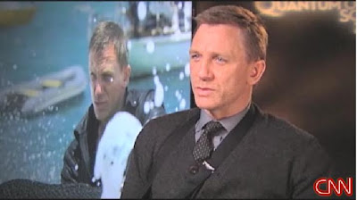 Daniel Craig James Bond Quantum of Solace CNN Screening Room November 2008