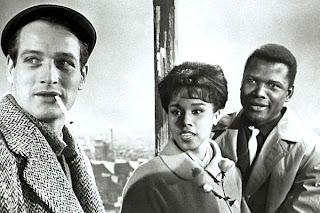 Paul Newman, with Diahann Carroll and Sidney Poitier, in 'Paris Blues'