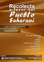 RECOLECTA A FAVOR DEL PUEBLO SAHARAUI