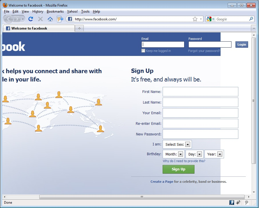 Software Quality Assurance Stuff: Bug in Facebook login page