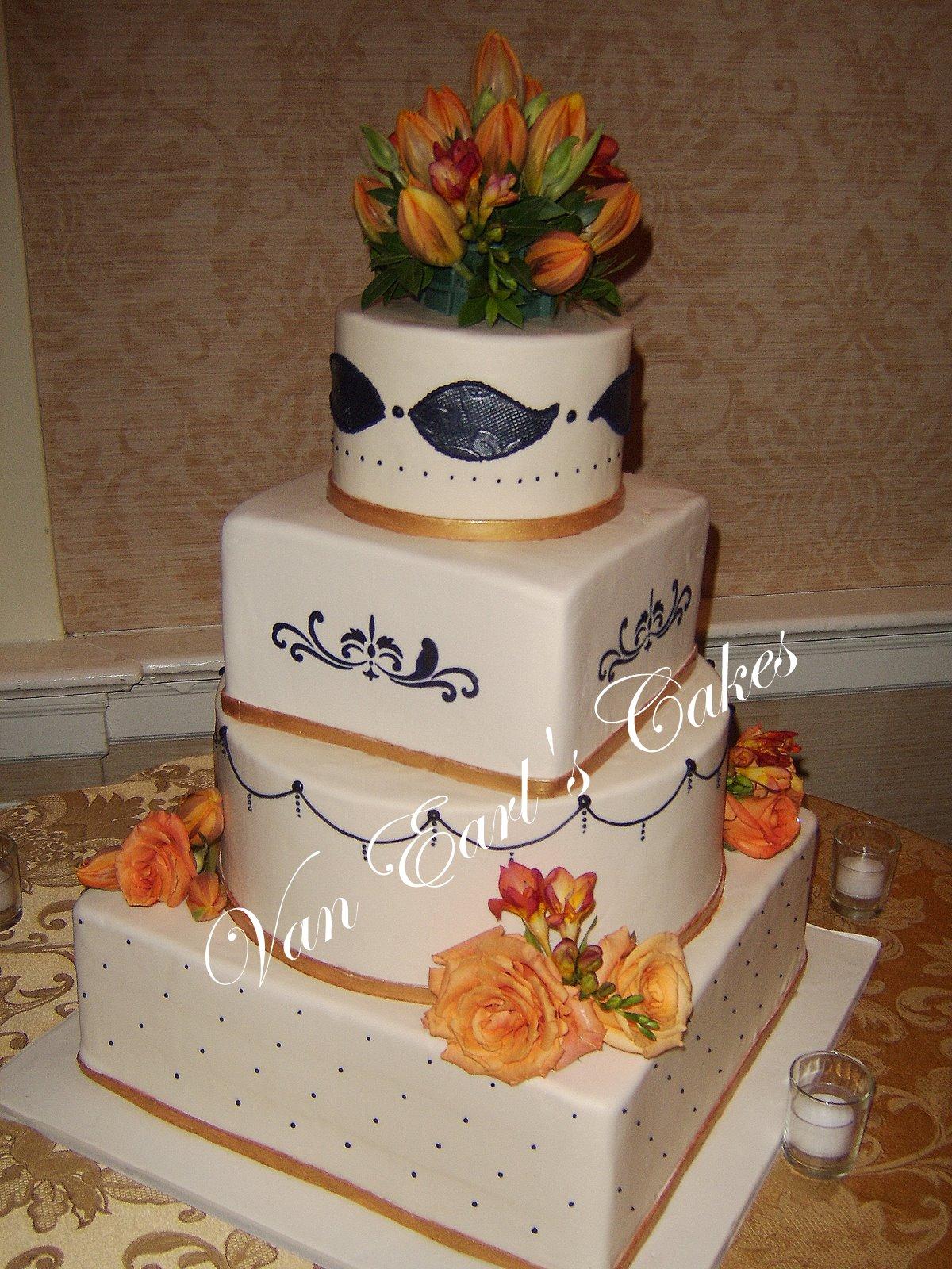 Van Earl s Cakes Four Tier Wedding Cake