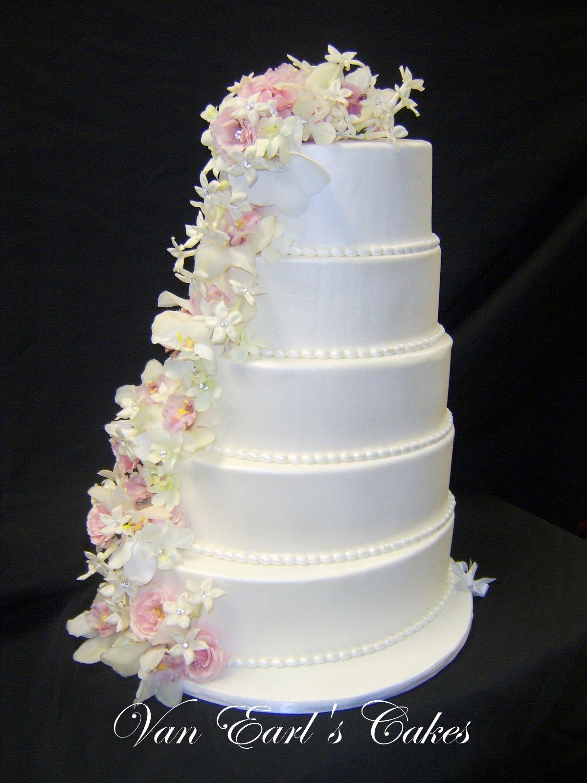 Van Earl s Cakes Five tier Oval Wedding Cake