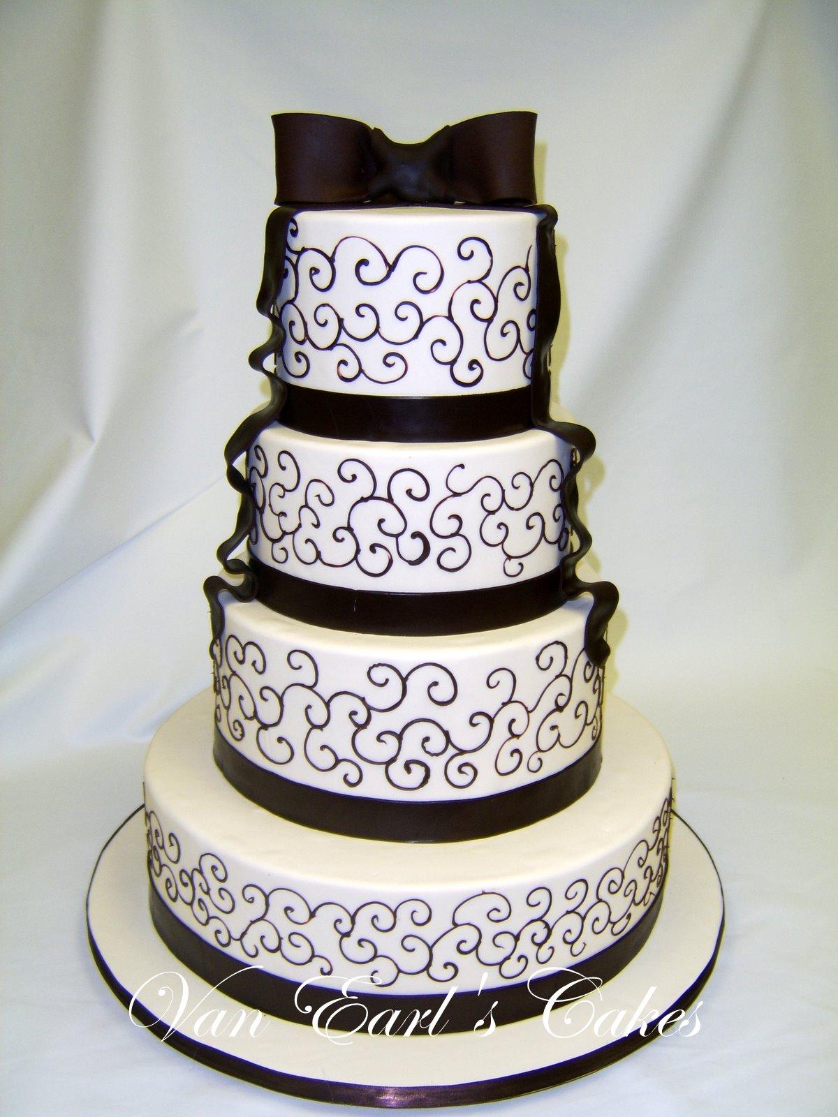 Van Earl\'s Cakes: Chocolate and Ivory Wedding Cake
