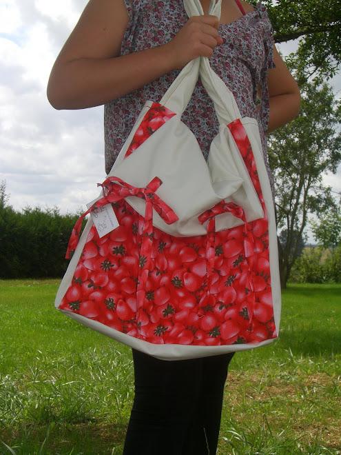 sac fraises pour claire