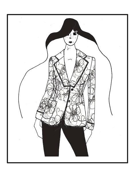 veste tailleur illustration