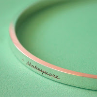 Shakespeare sterling silver bangle bracelet