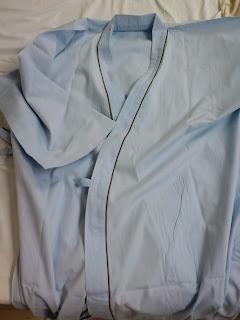 写真: 病院で提供された浴衣