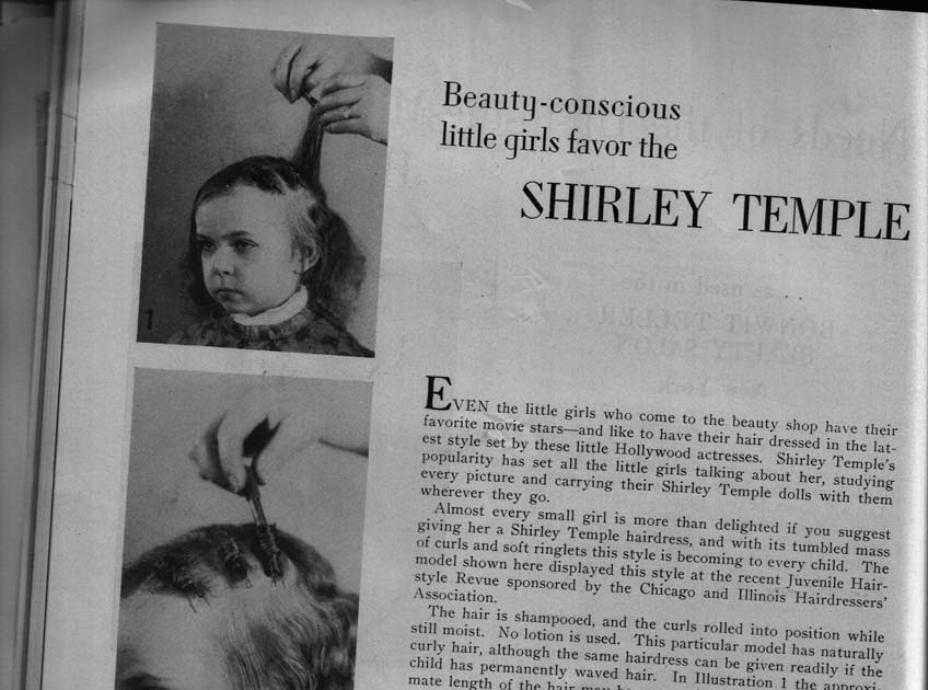 Beauty Is A Thing Of The Past Shirley Temple Hairstyle