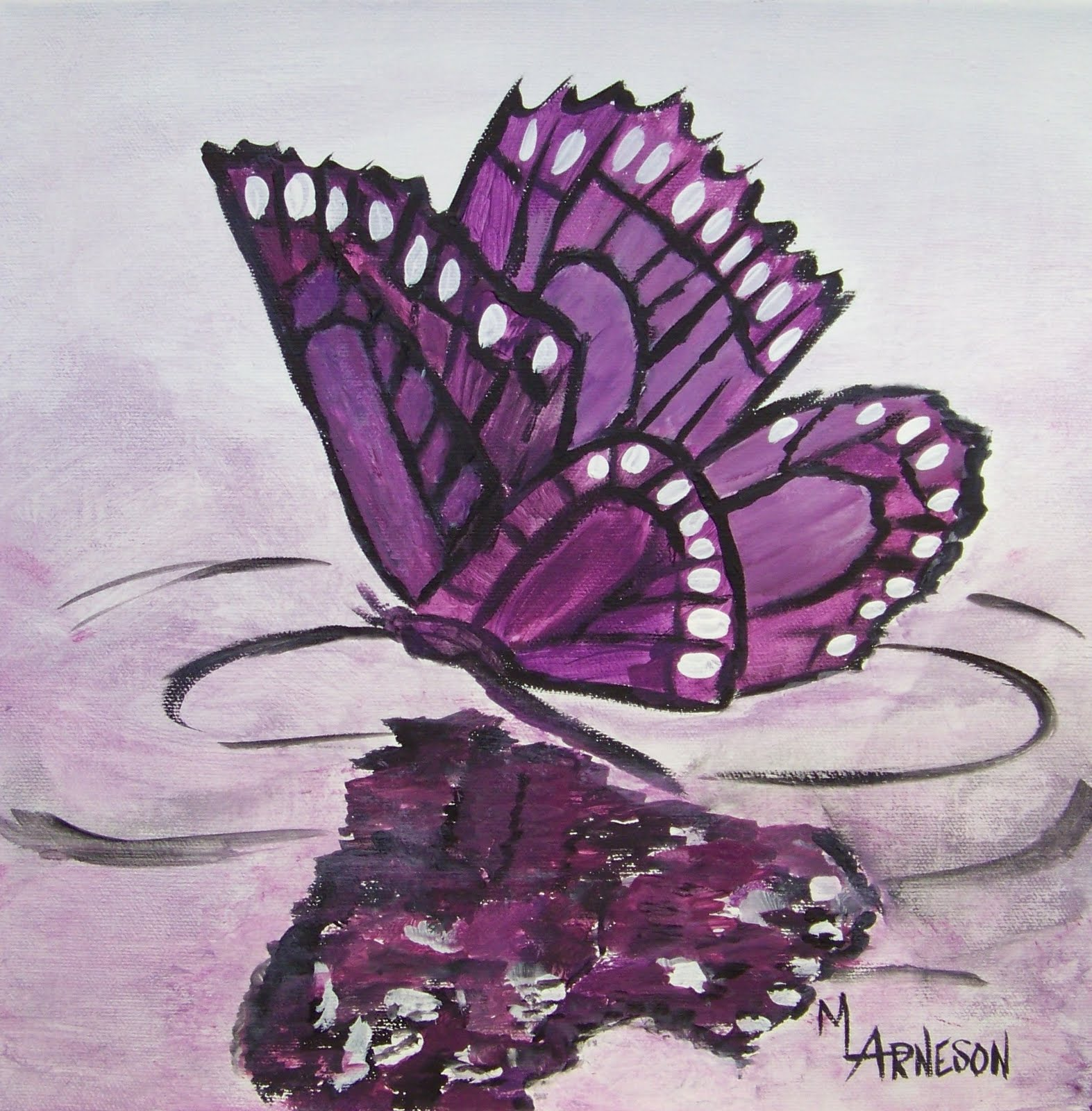 "Daily Painters Of Colorado: ""Butterfly Heart"" Acrylic Painting by ... for Butterfly Painting Designs  588gtk"