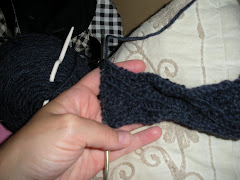 ...and knitting (on hold)