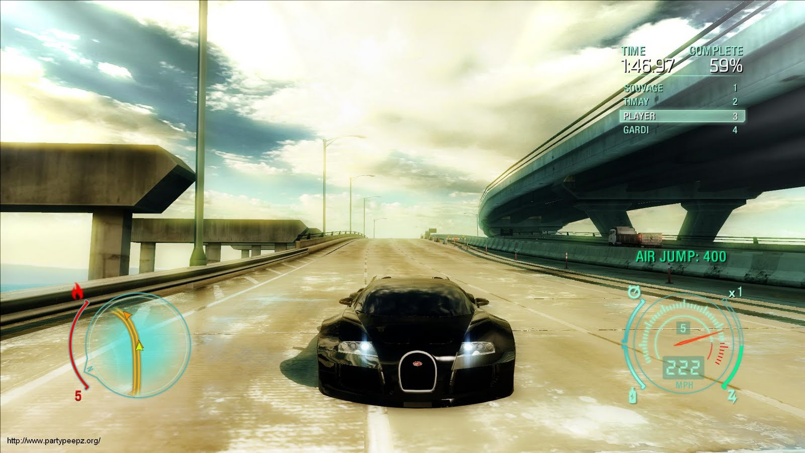 need for speed bugatti veyron at 222mph. Black Bedroom Furniture Sets. Home Design Ideas