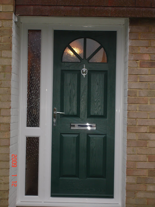 Green Composite Door & Side Frame