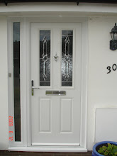 White Composite Door & Side Frame