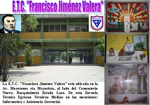 "E.T.C. ""Francisco Jiménez Valera"" FRAJIVA EDUCATIVO"