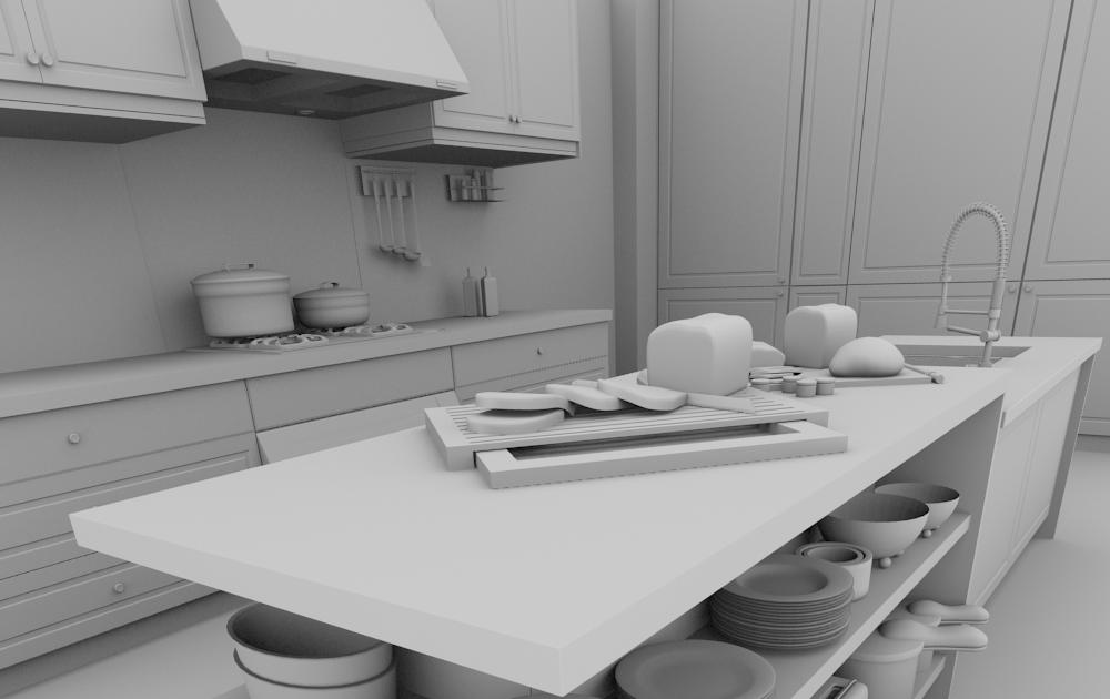 Blender 4d mod lisation d 39 une cuisine dans blender 2 5 for Modelisation cuisine 3d