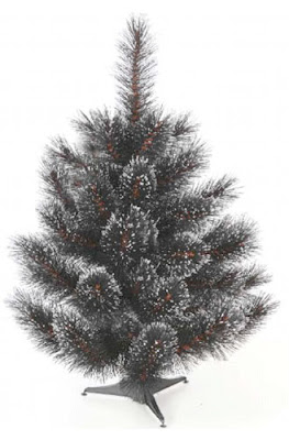 black artificial christmas trees