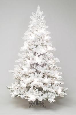 flocked christmas trees