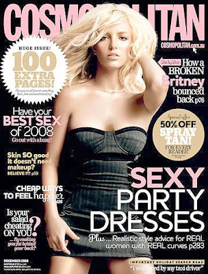 Britney Spears Cosmopolitan Magazine December 2008