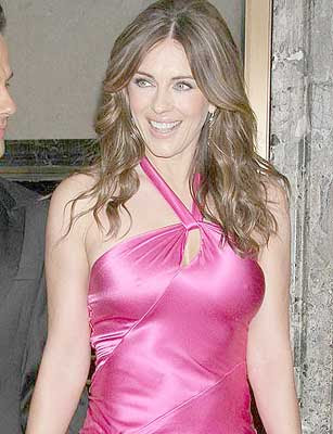 Elizabeth Hurley Hot Pink Dress Pics
