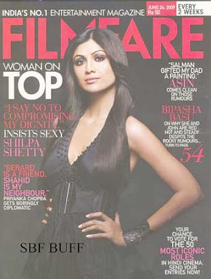 Shilpa Shetty Filmfare Magazine India June 2009 Pics