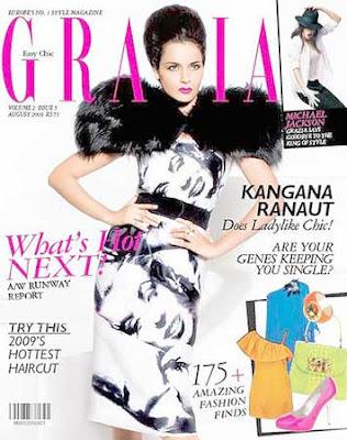 Kangana Ranaut Grazia Magazine India August 2009 Photos