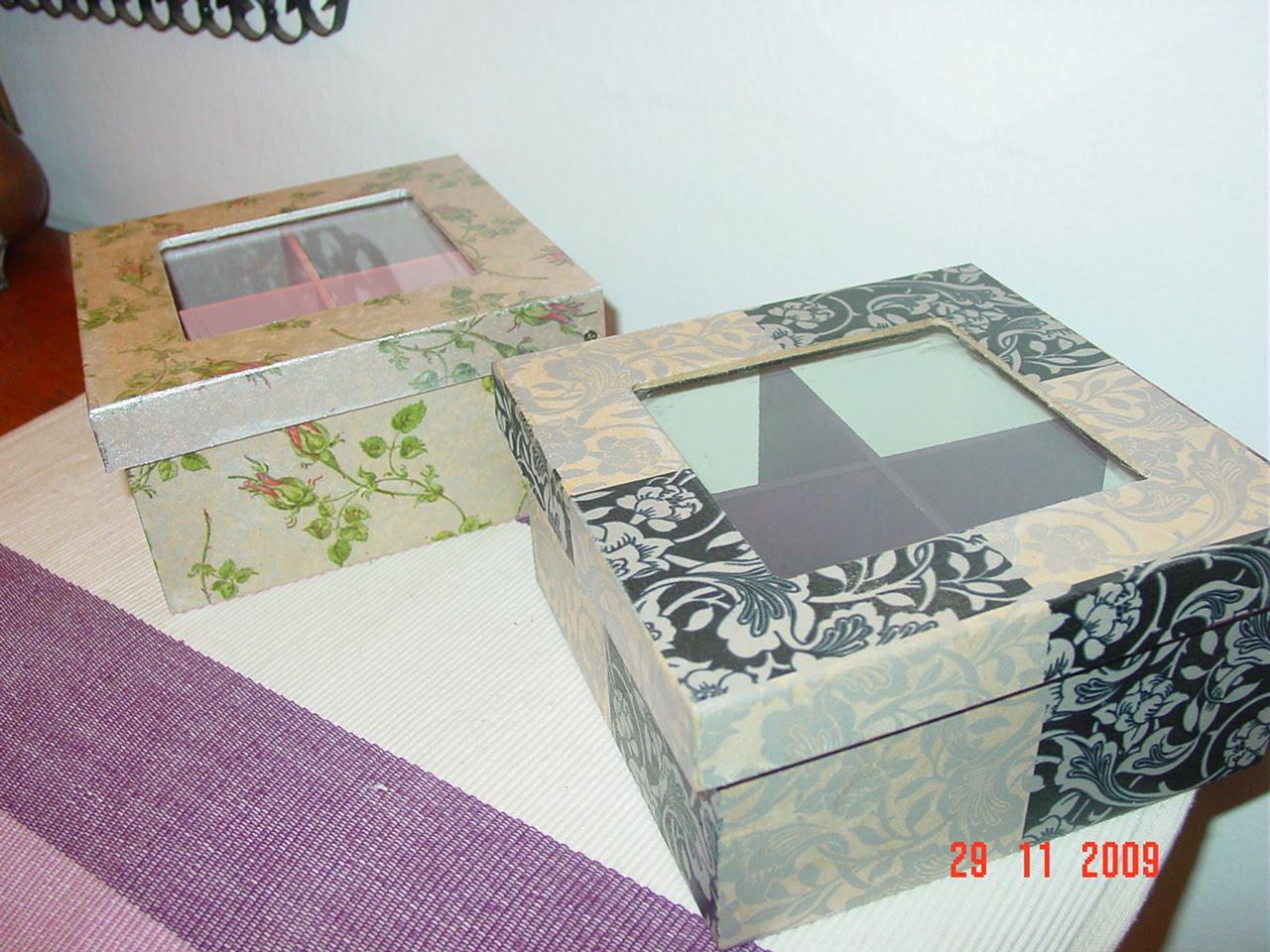 Cajas de Té Con Decoupage