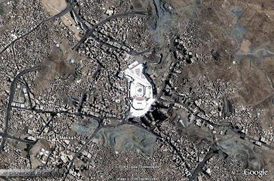 google+earth+ +kaabah,+mekkah Misteri Kaabah Yang Menggegerkan NASA