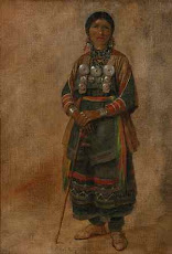 1820's Ojibwa Woman Wears Sash
