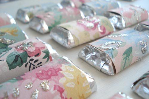 Joanna Hendrie Events Do It Yourself Bride Vintage Papers Glitter Chocolate Bars