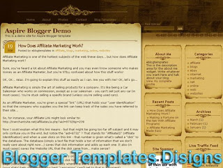 Theme Aspire Blogger Templates XML Web 2.0