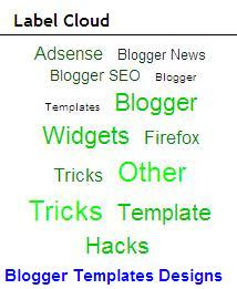 Blogger Hacks- How To Put Widgets Label Cloud Or Widgets Tag Cloud On Blogger Sidebar