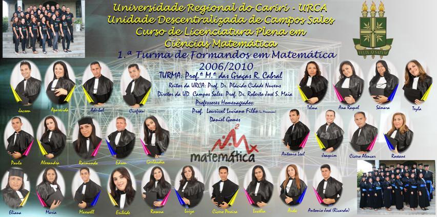 Placa da 1.ª Turma de Licenciandos em Matemática da UD Campos Sales