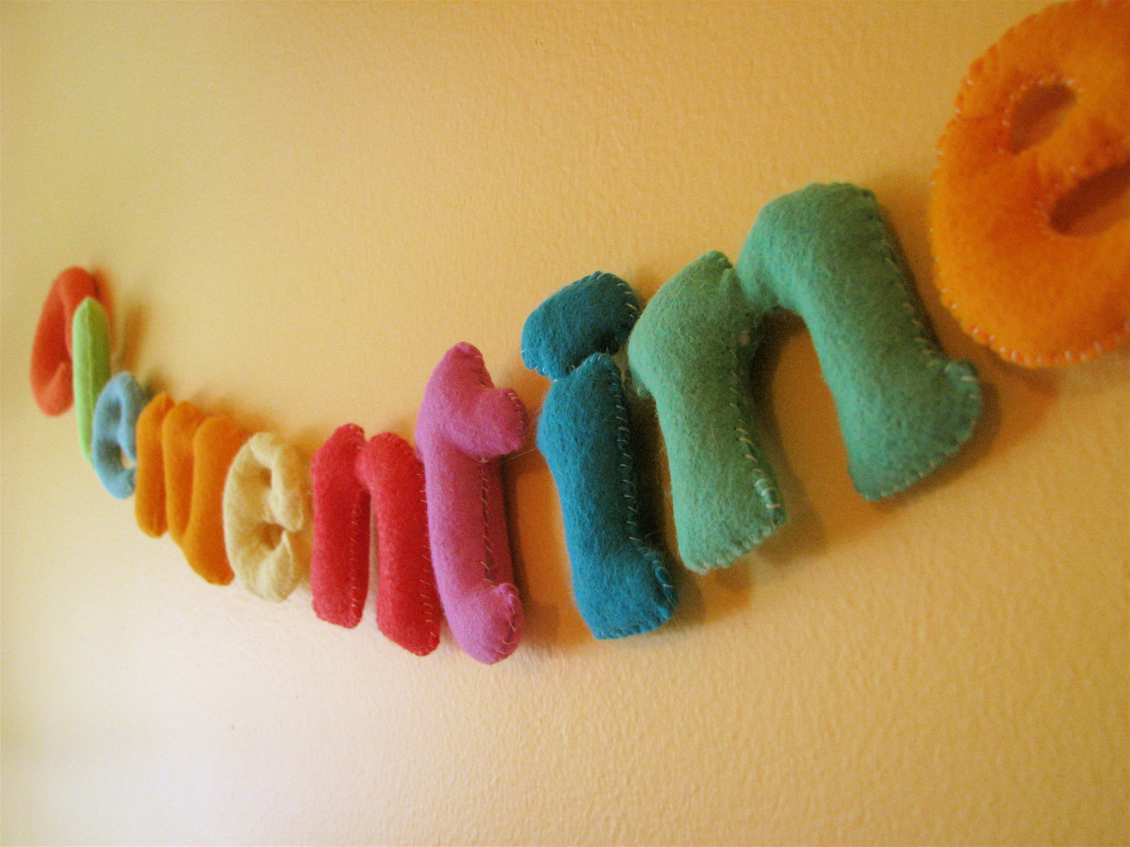 Felt Letters For Clementine S Room Made By Rae