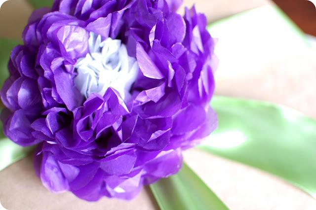 jolie fleur en papier