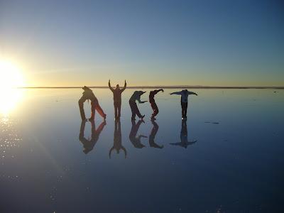 Bolivian Salt Flats. Crazy Bolivian Salt Flat