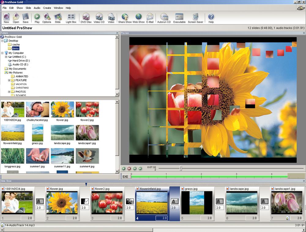 В видеоуроке дан обзор профессиональной программы для создания слайд-шоу ФотоШОУ PRO: ФотоШОУ PRO открывает.