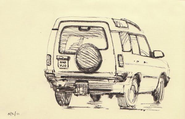 MCLK\'S SKETCH BLOG: More Car Sketching