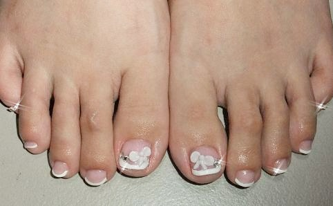french pedicure ideas toe nail designs french