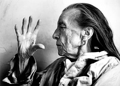 Portrait of Louise Bourgeois by Annie Leibovitz