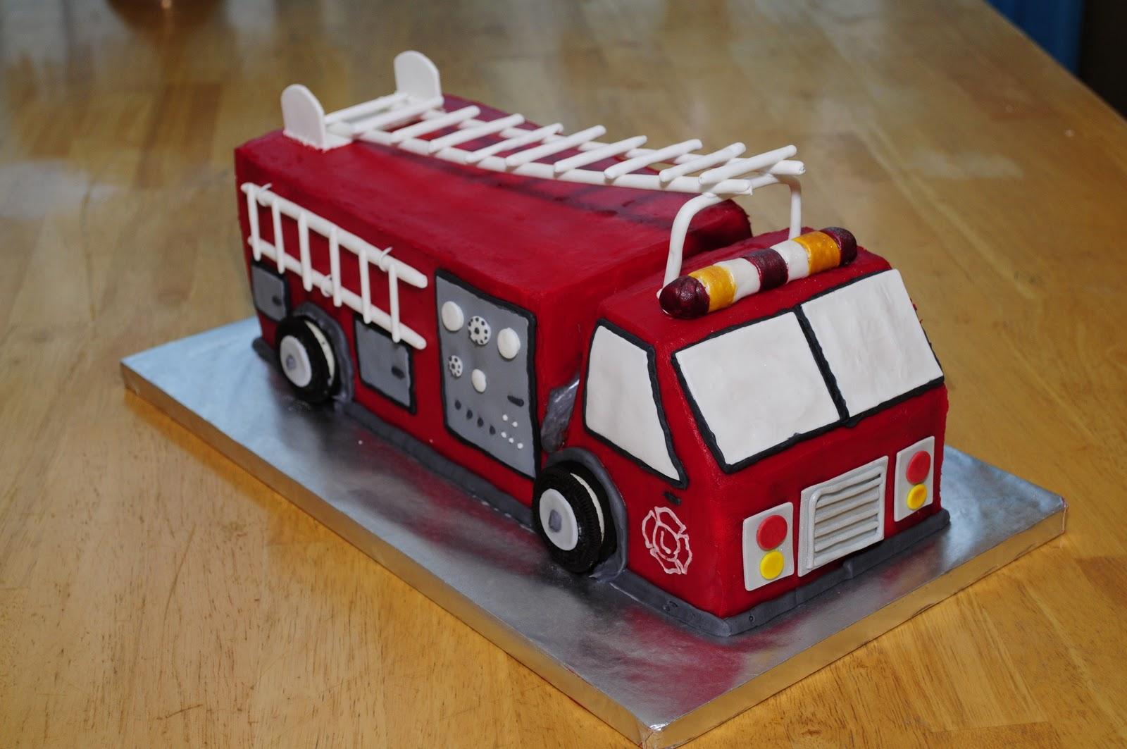 Lindsays Custom Cakes Fire Truck Birthday Cake