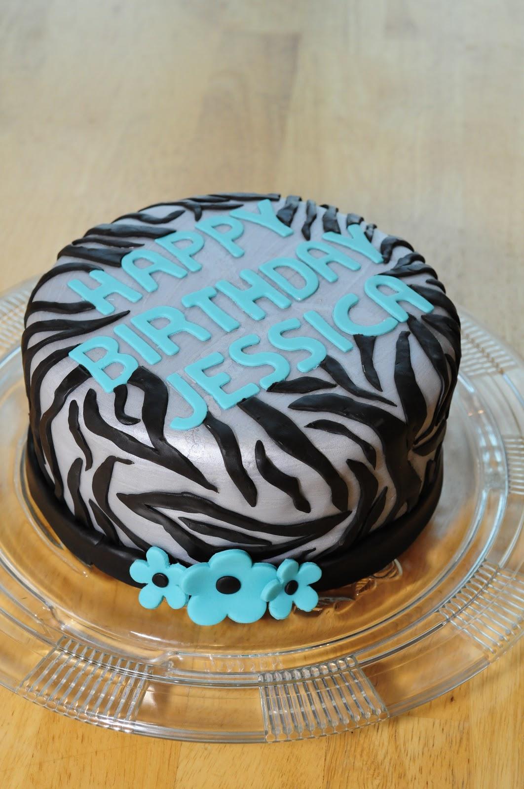 Lindsay's Custom Cakes: Silver Zebra Cake