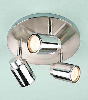 Kanita Triple Ceiling Spotlight, IP44 spotlights round base