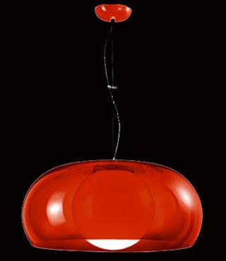 Balun Hanging Pendant, Transparent Red Balun Pendant MSX51000