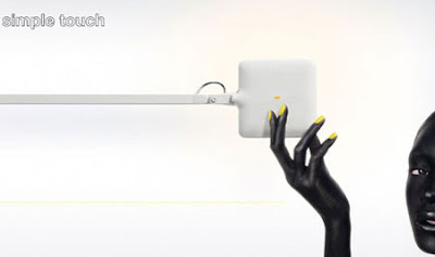 Flos Kelvin LED Desk Light - the smooth contrast of the white LED lamp, simple touch
